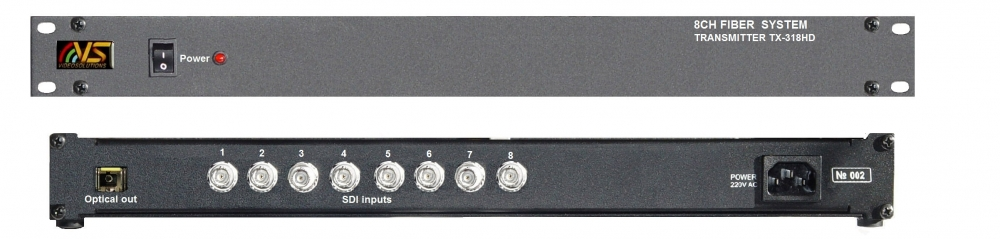 8 channel HD/SD SDI over Fiber Extender